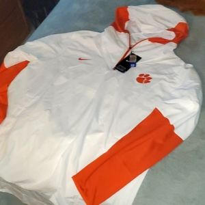 New Nike Clemson Windbreaker 1/4 zip  size XL